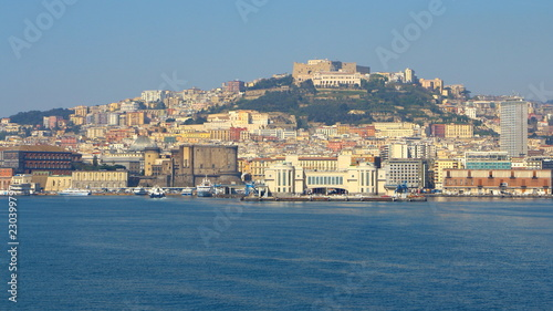 Skyline of Italian city of Naples, in Italy
