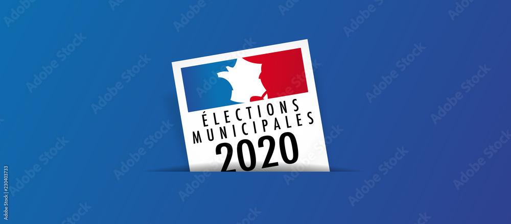 Fototapeta Elections municipales 2020