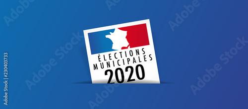 Obraz Elections municipales 2020 - fototapety do salonu