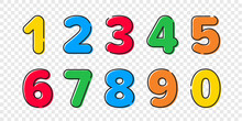 Colorful Cartoon Numbers Font ...