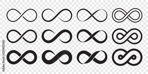 Infinity loop logo icon Wallpaper Mural