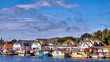 Harbor in Vitte with fishing boats on a sunny beautiful day, Hiddensee island, Baltic Sea, Germany