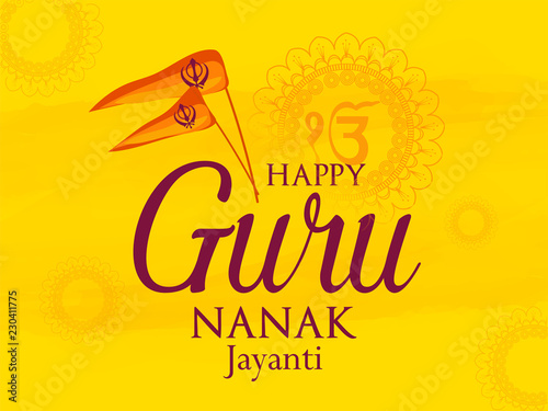 Photo  nice and beautiful abstract for Gurunanak Jayanti with nice and creative design illustration