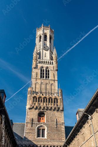Leinwand Poster Belfry of Bruges, Belgium