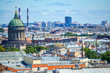 Russia. Saint-Petersburg. The rooftops of the city, to the left the dome of the Kazan Cathedral