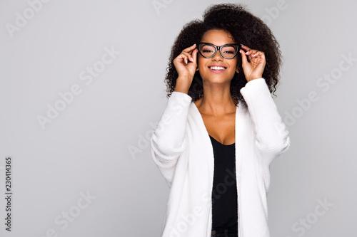 Obraz Young woman wearing eyeglasses - fototapety do salonu