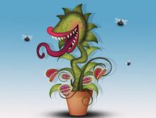 Funny Illustration Of Carnivor...
