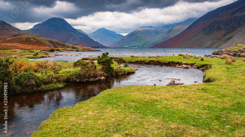 Wastwater with Scafell Pike...