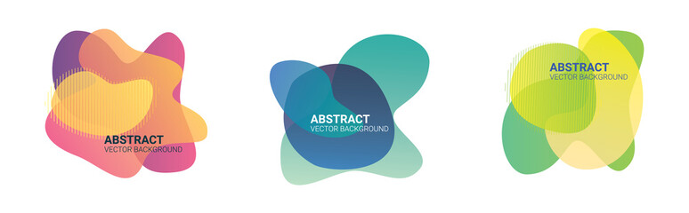 Abstract blur free form shapes color gradient. Fluid organic colorful shapes. Colors effect soft transition, vector illustration eps10. Abstract background