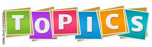 Obraz na plátně  Topics Colorful Blocks
