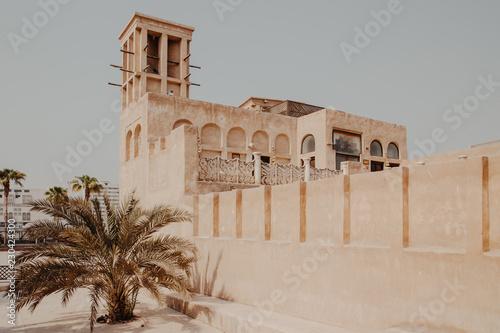 Fototapeta premium Stare miasto w historycznej dzielnicy Al Fahidi. Dubaj, Zjednoczone Emiraty Arabskie