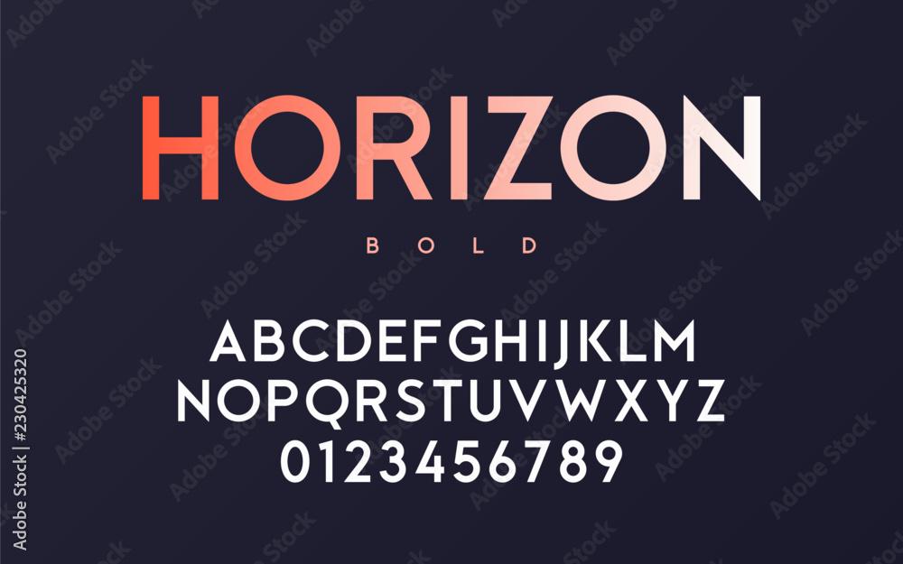 Fototapety, obrazy: Vector trendy minimal sans serif bold font design, alphabet, typ