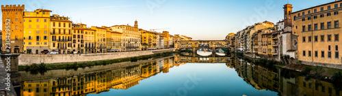 Poster Artistic monument Ponte Vecchio - Florence - Italia
