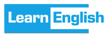 Learn English Blue Horizontal Stripe