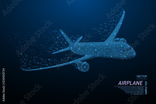 Stampa su Tela Commercial airliner concept
