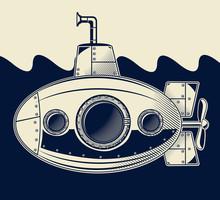 Old Submarine Under The Sea
