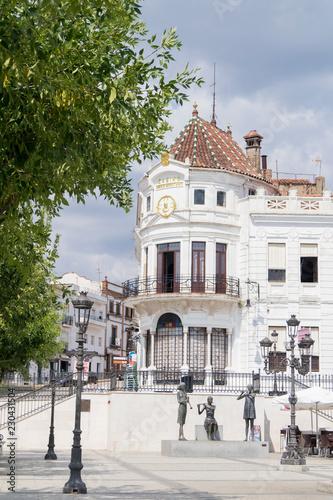 Plaza marqués de Aracena y casino de Arias Montano, Aracena, Huelva, Andalucia, España