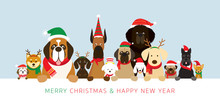 Dogs Wearing Christmas Costume...