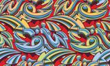 Fototapeta Młodzieżowe - Color graffiti arrows seamless background