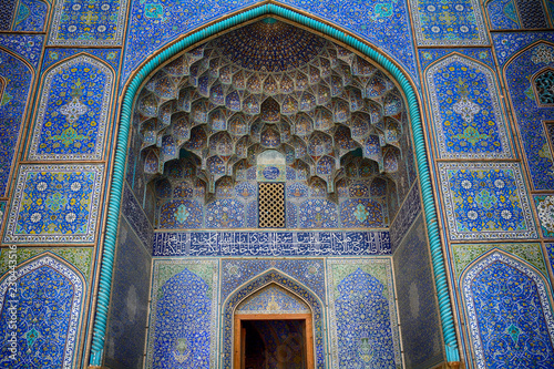 Leinwand Poster Lotfollah Sheikh Mosque, Isfahan, Iran