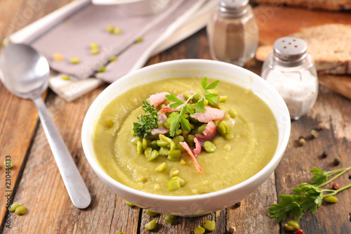 dry pea soup Canvas Print