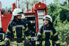 Firefighters In Protective Uni...
