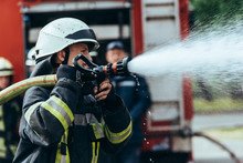 Selective Focus Of Firefighter...