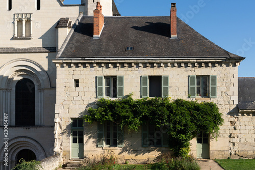 Photo the guard house of Fontevraud Abbey