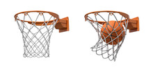 3d Rendering Of Two Basketball...