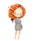 cute cartoon girl - 230463570