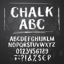 Rough Chalk Latin Alphabet