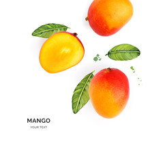 Creative Layout Made Of Mango ...
