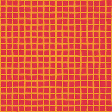 Crisscrossed Hand Drawn Lines Make A Colorful Grid, Yellow Orange On A Red Background. For Fashion, Bold Statements, Textiles, Scrapbooking, Home Decor Accents, Stationery, Signs, Graphic Backgrounds.