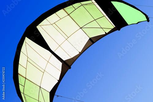 kite boarding. kitesurf freestyle in Cadiz, Spain