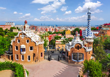 Guell Park In Summer, Barcelon...