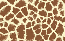 Giraffe Texture Pattern Brown White Print