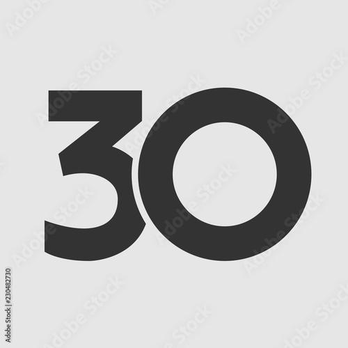 Tela 30 th years old logotype