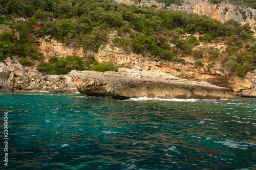 Printed kitchen splashbacks Light blue sea and rocks