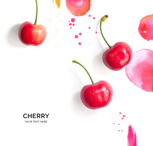 Creative Layout Made Of Cherry...