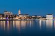 Split at night, Croatia, Balkans in Europe