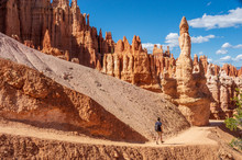 Hiker In Bryce Canyon National Park,  Utah, USA