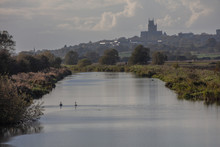 River Witham And Lincoln Cathedral