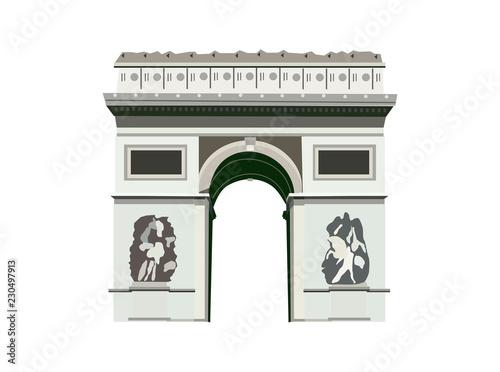 Valokuvatapetti Arc de Triomphe. Paris