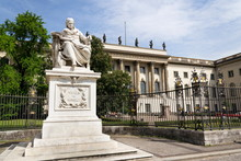 Wilhelm Von Humboldt Statue Outside Humboldt University From 1883 By Martin Paul Otto, Berlin, Germany, Sunny Day