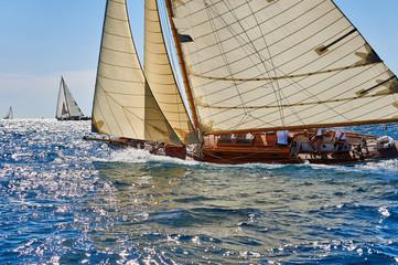 Fototapeta Sailing yacht regatta. Yachting. Sailing