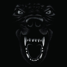 The Vector Logo Wolf For T-sh...
