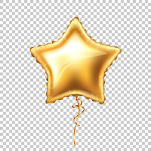 Vector Realistic Gold Star Sha...