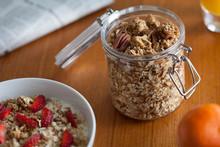 Granola With Strawberries And Yogurt