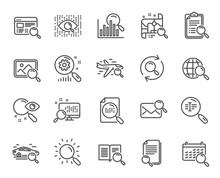 Search Line Icons. Set Of Inde...