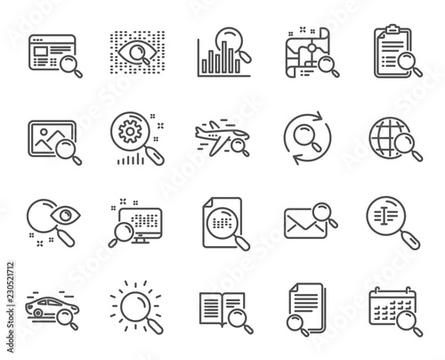 Search line icons Wallpaper Mural